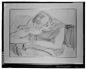 view Woman with Hands Clasped [drawing] / (photographed by Walter Rosenblum) digital asset number 1