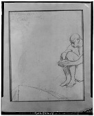 view Figure Study of a Seated Man [art work] / (photographed by Walter Rosenblum) digital asset number 1