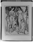 view Group of Nudes Among Trees [graphic arts] / (photographed by Walter Rosenblum) digital asset number 1