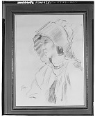 view Woman in Bonnet [drawing] / (photographed by Walter Rosenblum) digital asset number 1