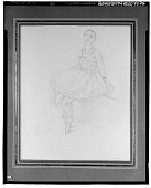 view Seated Dancer [drawing] / (photographed by Walter Rosenblum) digital asset number 1