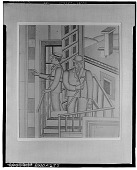 view Two Men in Hats [drawing] / (photographed by Walter Rosenblum) digital asset number 1