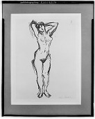 view Standing Nude [drawing] / (photographed by Walter Rosenblum) digital asset number 1