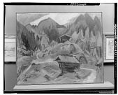 view Kummeralp Mountain and Two Sheds [painting] / (photographed by Walter Rosenblum) digital asset number 1