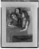 view Painting Study, Three Women [painting] / (photographed by Walter Rosenblum) digital asset number 1