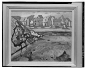 view Bayerisches Dorf Mit Feld [painting] / (photographed by Walter Rosenblum) digital asset number 1