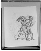 view No Title Given: Two Figures Holding Hands [drawing] / (photographed by Walter Rosenblum) digital asset number 1