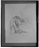 view Girl Asleep (Chassy) [drawing] / (photographed by Walter Rosenblum) digital asset number 1