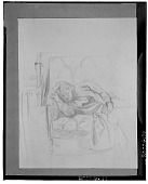 view Sleeping Girl [drawing] / (photographed by Walter Rosenblum) digital asset number 1