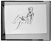 view Seated Girl [drawing] / (photographed by Walter Rosenblum) digital asset number 1