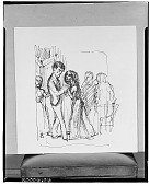 view Study: Wuthering Heights Illustration: 'Miss Cathy seized him again' (Chapter 7) [drawing] / (photographed by Walter Rosenblum) digital asset number 1