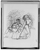 view Study: Wuthering Heights Illustration: Heathcliff and Cathy [drawing] / (photographed by Walter Rosenblum) digital asset number 1
