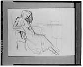view No Title Given: Woman Reclining [drawing] / (photographed by Walter Rosenblum) digital asset number 1