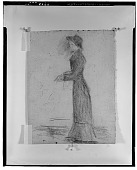 view Woman Standing, Arms Extended [drawing] / (photographed by Walter Rosenblum) digital asset number 1