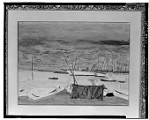 view No Title Given: Boats and Harbor [art work] / (photographed by Walter Rosenblum) digital asset number 1