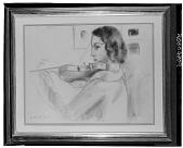 view La Violiniste [drawing] / (photographed by Walter Rosenblum) digital asset number 1