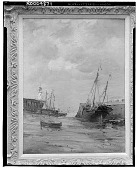 view No Title Given: Ships, Lighthouse and Harbor, [art work] / (photographed by Walter Rosenblum) digital asset number 1