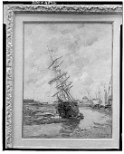 view No Title Given: Ship in Dry Harbor, [art work] / (photographed by Walter Rosenblum) digital asset number 1