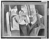 view Two Women In Front of A Window [painting] / (photographed by Walter Rosenblum) digital asset number 1