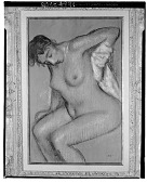 view Femme nue s'essuyant [charcoal] / (photographed by Walter Rosenblum) digital asset number 1