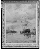 view No Title Given: Sailing Ships in a Harbor, [art work] / (photographed by Walter Rosenblum) digital asset number 1