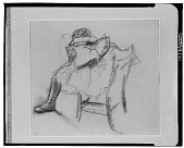view Danseuse assise [drawing] / (photographed by Walter Rosenblum) digital asset number 1