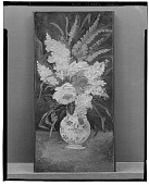 view Still Life: Vase with Gladioli and Lilacs [painting] / (photographed by Walter Rosenblum) digital asset number 1