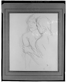 view No Title Given: Two Figures [drawing] / (photographed by Walter Rosenblum) digital asset number 1