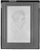 view Portrait of Girard de Bury, Architect [drawing] / (photographed by Walter Rosenblum) digital asset number 1