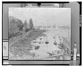 view The Port of Argenteuil [painting] / (photographed by Walter Rosenblum) digital asset number 1
