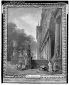 view Colonnade and Gardens of the Medici Palace [painting] / (photographed by Walter Rosenblum) digital asset number 1