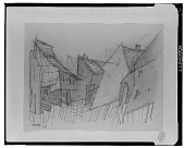 view Row of Houses [drawing] / (photographed by Walter Rosenblum) digital asset number 1