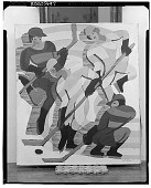 view Hockey Players [painting] / (photographed by Walter Rosenblum) digital asset number 1