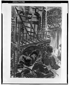 view Men Sleeping Beneath a Fire Escape [art work] / (photographed by Walter Rosenblum) digital asset number 1
