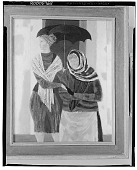 view Two Women with an Umbrella [painting] / (photographed by Walter Rosenblum) digital asset number 1