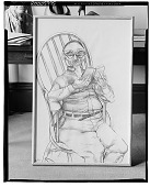 view Man Reading [drawing] / (photographed by Walter Rosenblum) digital asset number 1