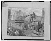 view St. Mark's Street and Astor Place, [painting] / (photographed by Walter Rosenblum) digital asset number 1