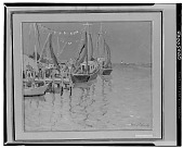 view No Title Given: Dockside Scene, [art work] / (photographed by Walter Rosenblum) digital asset number 1