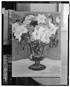 view Floral Still Life with Daisies in an Urn [painting] / (photographed by Walter Rosenblum) digital asset number 1