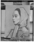 view Marcia Morris [painting] / (photographed by Walter Rosenblum) digital asset number 1