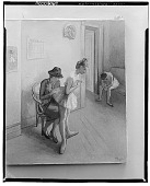 view Mending the Costume [painting] / (photographed by Walter Rosenblum) digital asset number 1