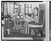 view No Title Given: Women Reading [art work] / (photographed by Walter Rosenblum) digital asset number 1
