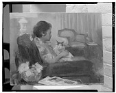 view Woman with a Cat [painting] / (photographed by Walter Rosenblum) digital asset number 1