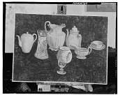 view Still Life with Tea Pots and Pitures [art work] / (photographed by Walter Rosenblum) digital asset number 1