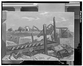 view Landscape with Mining Equipment [painting] / (photographed by Walter Rosenblum) digital asset number 1