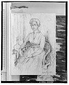 view Portrait of a Woman Seated [painting] / (photographed by Walter Rosenblum) digital asset number 1