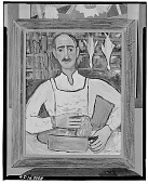 view The Butcher [painting] / (photographed by Walter Rosenblum) digital asset number 1