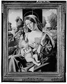 view Madonna Breast-feeding the Infant Jesus [painting] / (photographed by Walter Rosenblum) digital asset number 1