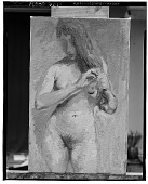 view Nude Fixing Her Hair [art work] / (photographed by Walter Rosenblum) digital asset number 1