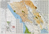 view Running Fence, Sonoma and Marin Counties, California, 1972-76, North American Maps, Site Selection: Sonoma County digital asset number 1